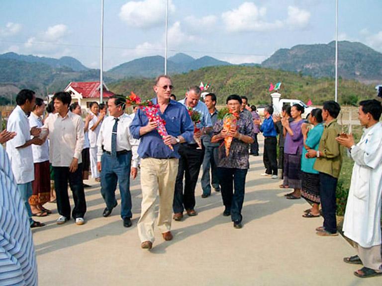 Empfang im Distriktspital Xam Tai (2007)