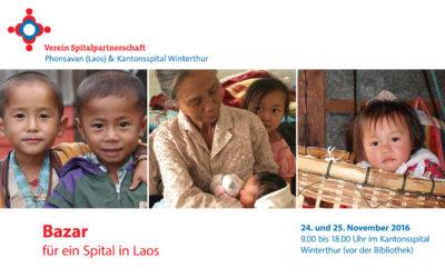 Bazar zugunsten von Laos im Kantonsspital Winterthur