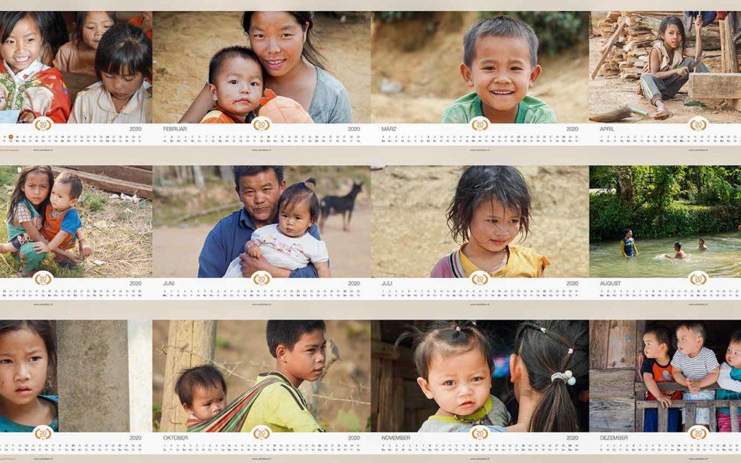 Fotokalender 2020 des Swiss Laos Hospital Project