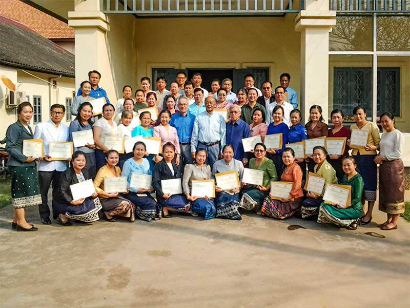Participants of the management course at Mahosot Hospital