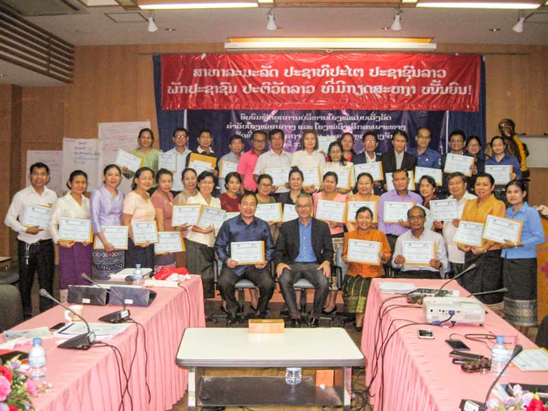 Participants of the management course at Setthathirath Hospital