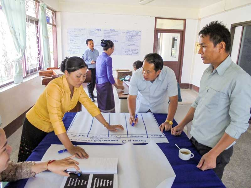 Workshop participants at Xieng Khouang Provincial Hospital