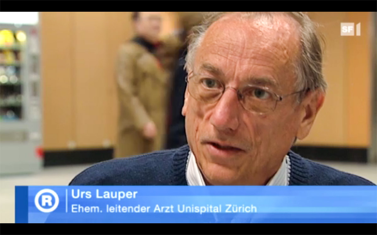 Dr. med. Urs Lauper, founder of the Swiss Laos Hospital Project, in Swiss Television (12. Mai 2010)