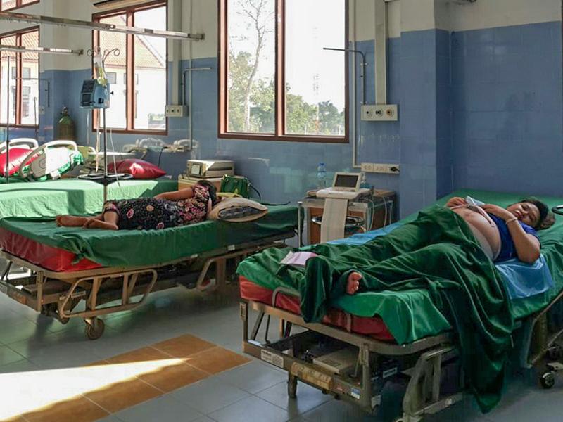 Im Mother and Newborn Hospital in Vientiane